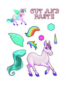 Simple Cut and Paste Activities (Unicorn Maker)